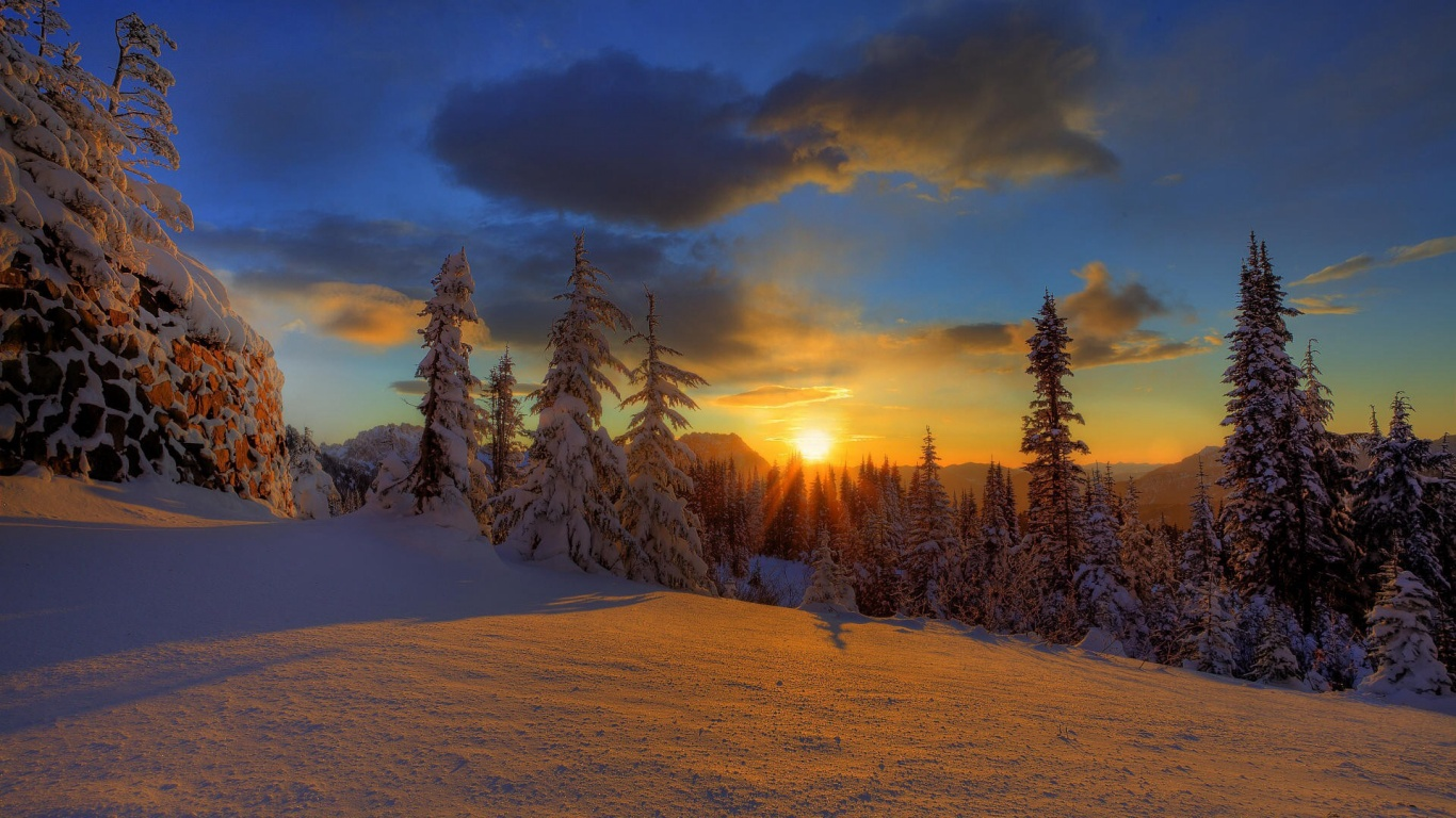 1366x768 winter sun desktop pc and mac wallpaper