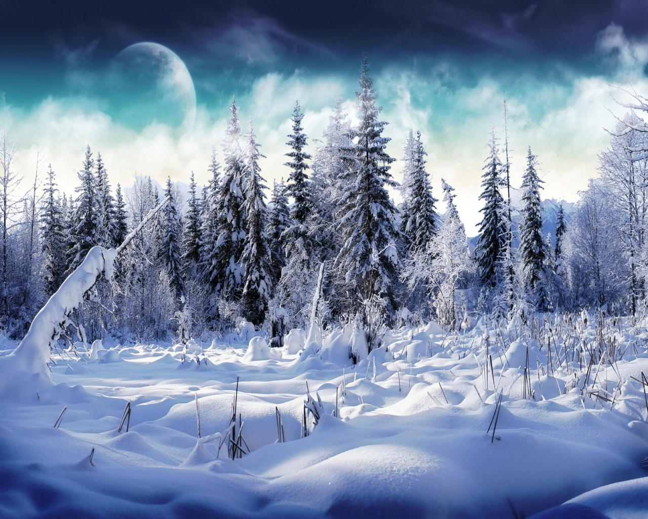 1280x1024 winter wonderland 2 desktop pc and mac wallpaper
