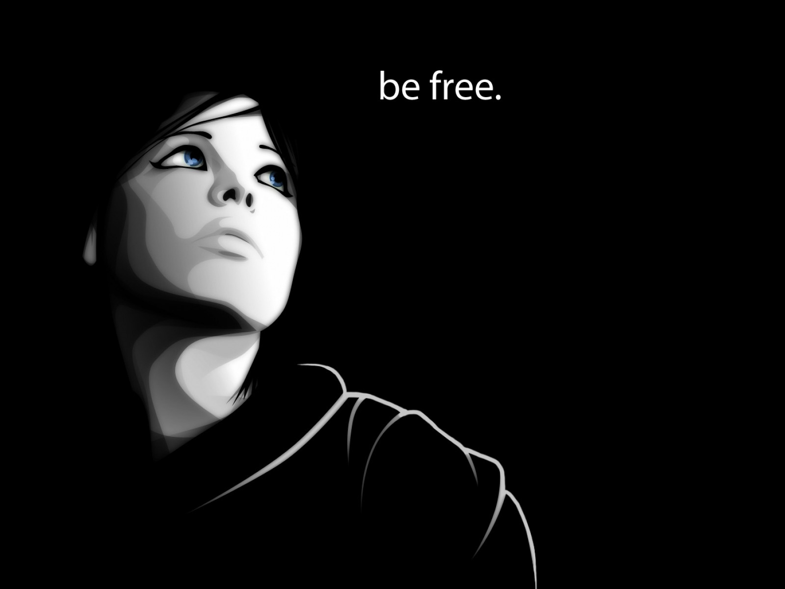 1500x500 Woman Darkness Be Free Twitter Header Photo: wallpaperstock.net/woman-darkness-be-free_twitter_cover_41810...