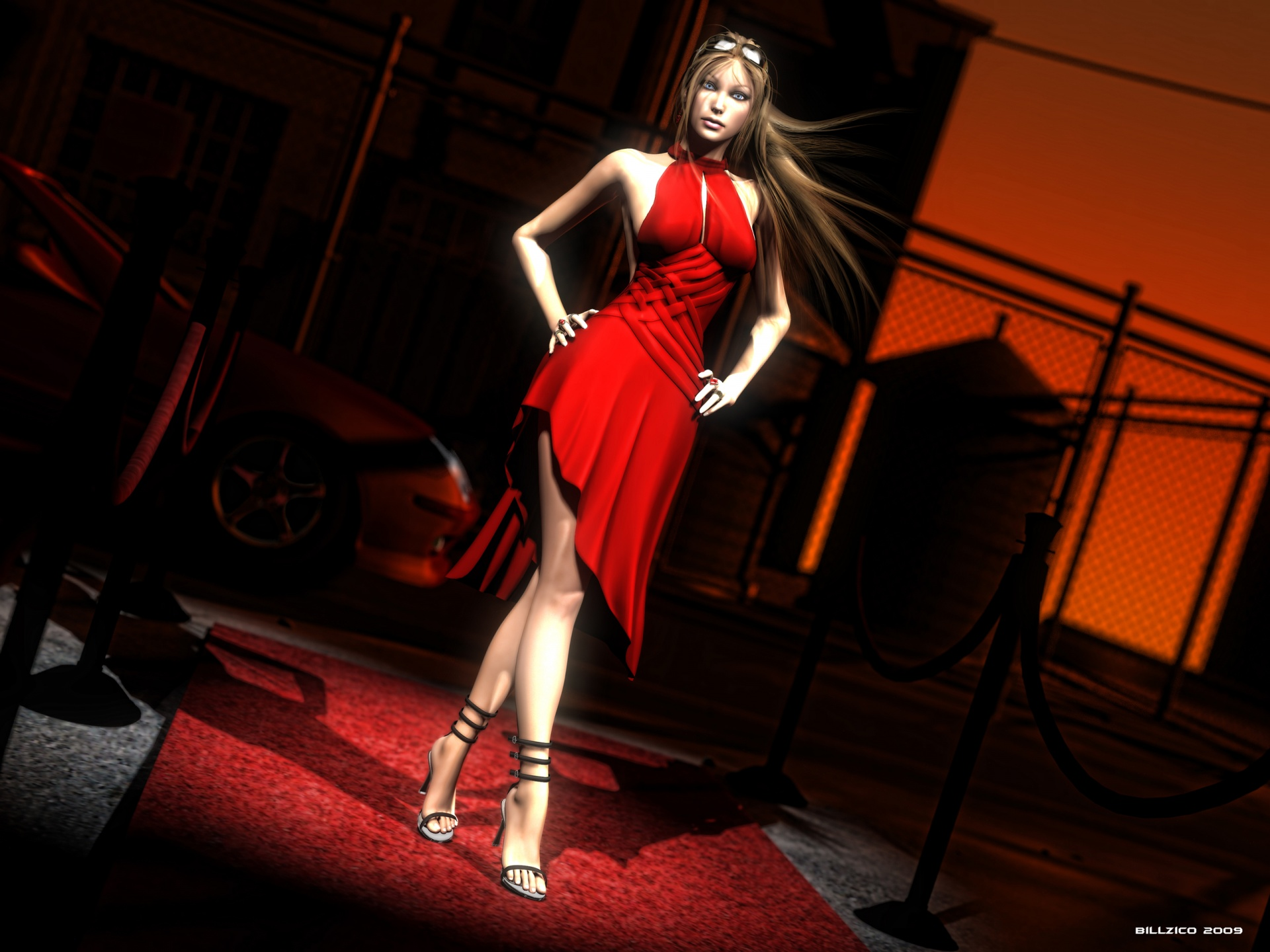 1920x1440 woman in red daz studio desktop pc and mac wallpaper