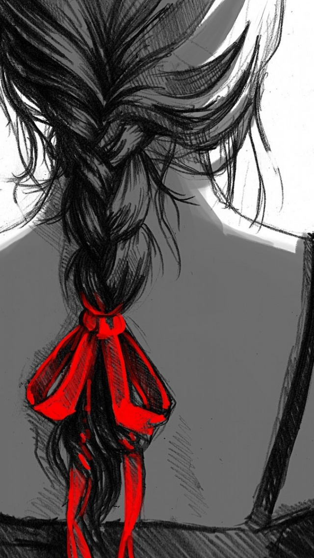 640x1136 Woman Sketch Iphone 5 Wallpaper