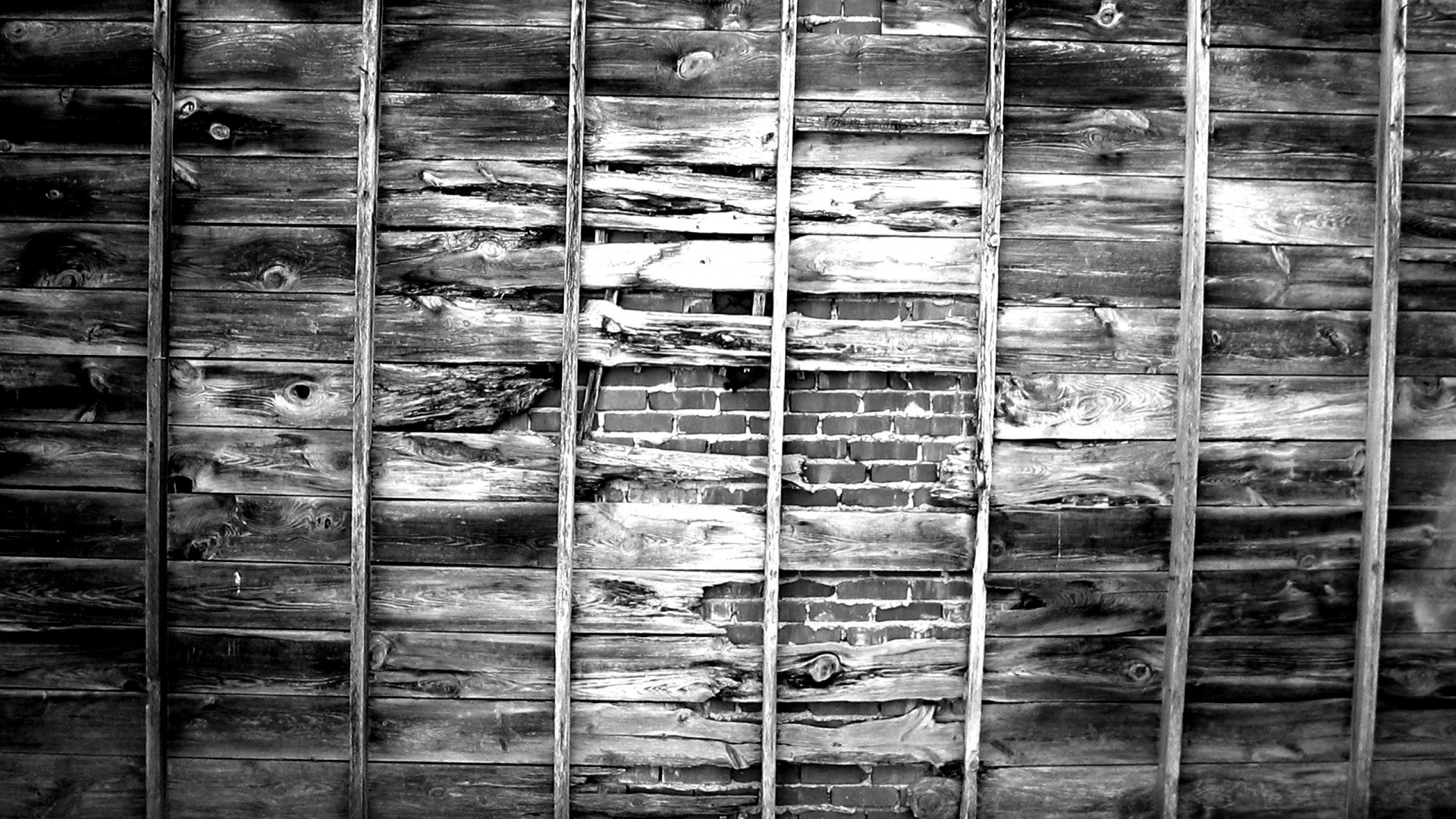 1920x1080 wood brick wall desktop pc and mac wallpaper for Black and white wallpaper for walls