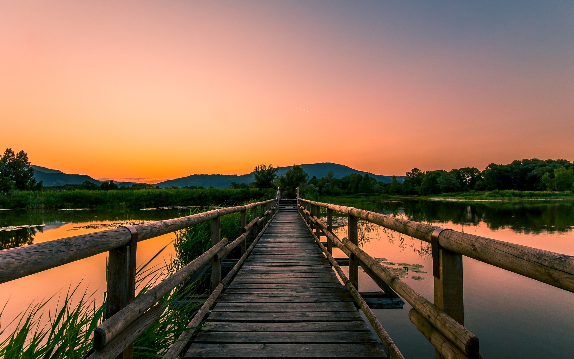 wooden bridge wallpaper - photo #6