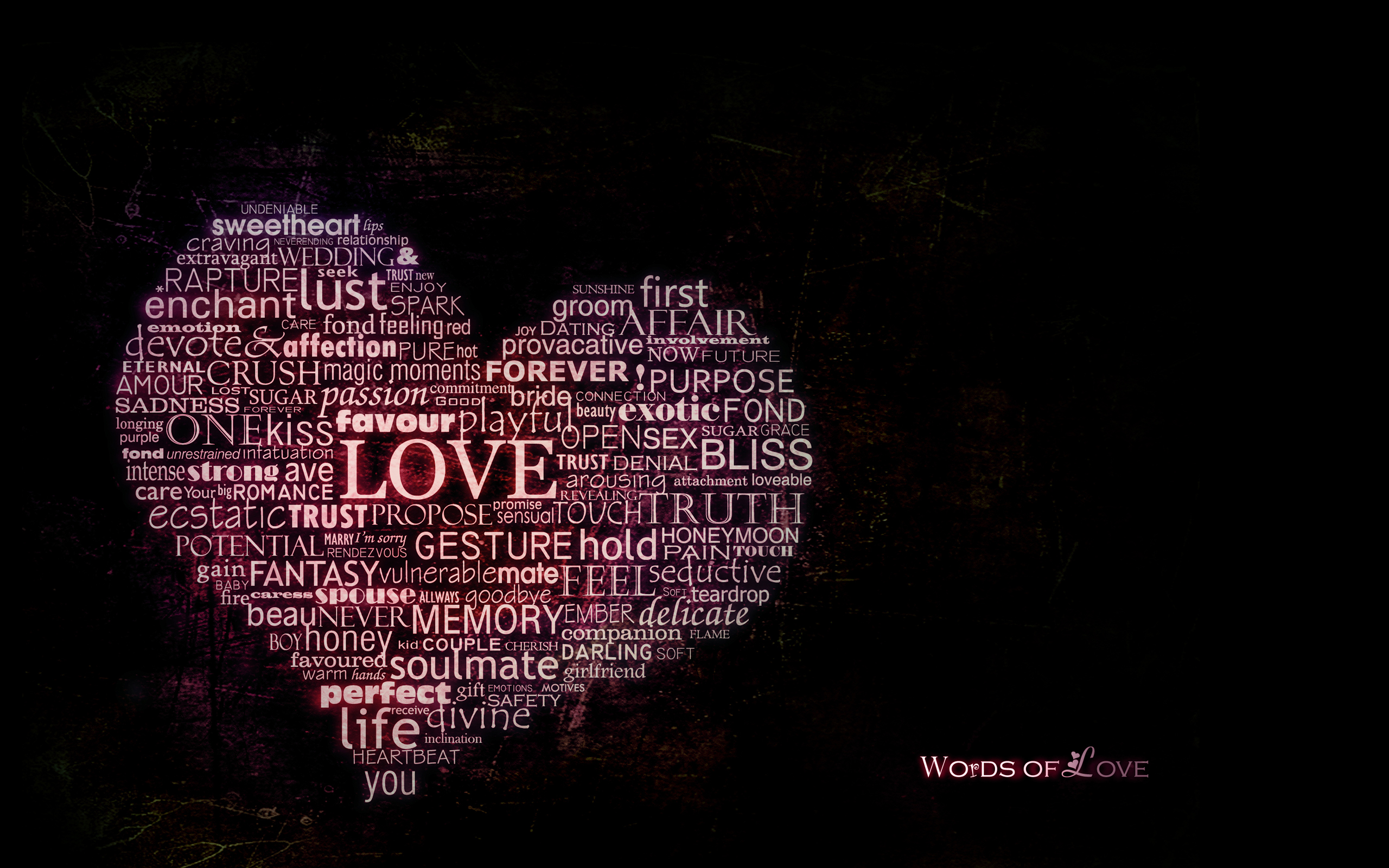 Words of love wallpapers
