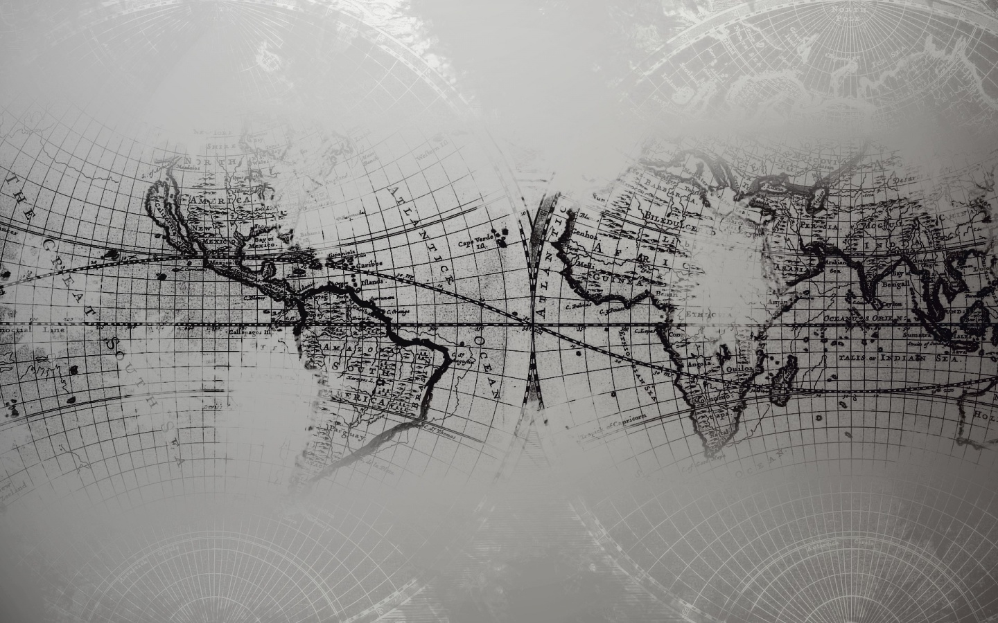 1440x900 world map grayscale desktop pc and mac wallpaper - Wallpaper pictures ...
