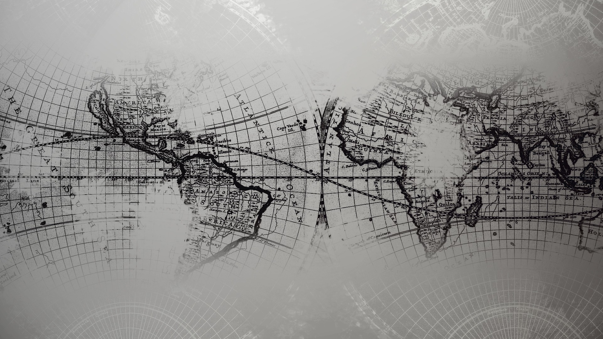 world map grayscale wallpapers 34428 1920x1080