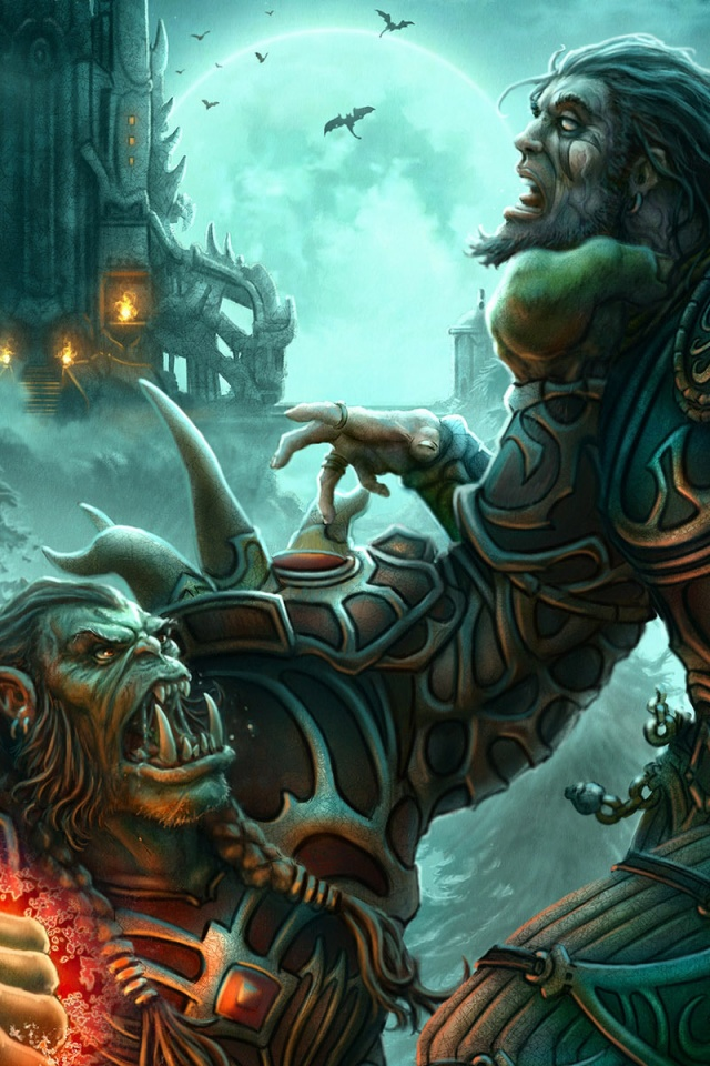 640x960 World Of Warcraft Orc Iphone 4 Wallpaper
