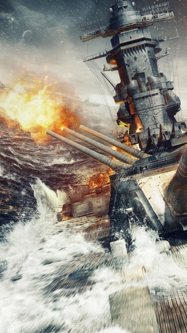 720x1280 World of Warships Game Galaxy s3 wallpaper