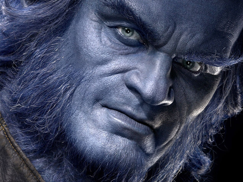 1024x768 Xmen Beast face desktop PC and Mac wallpaper