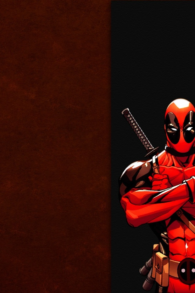 640x960 x men dead pool illustration iphone 4 wallpaper voltagebd Image collections