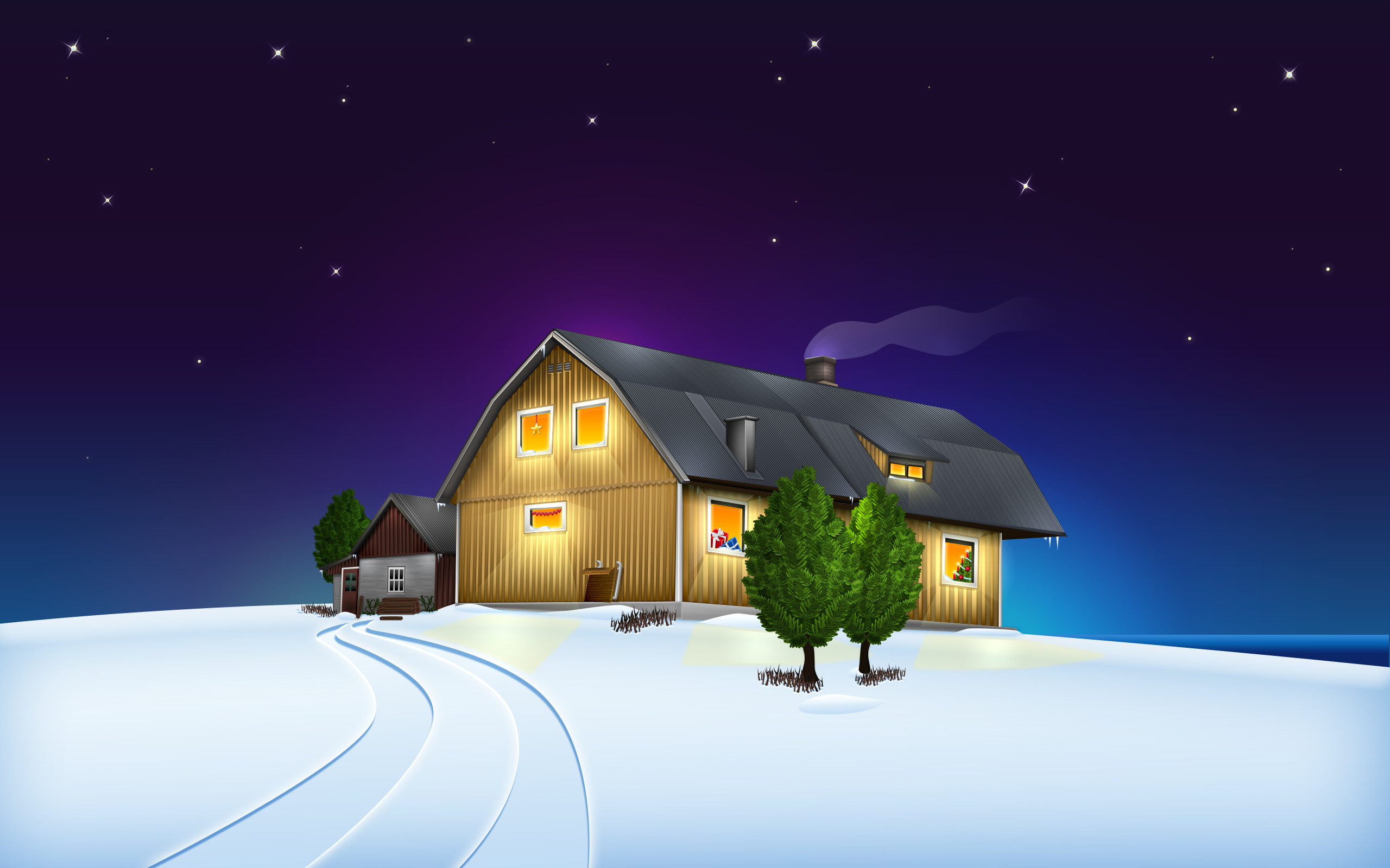 2560x1600 xmas at home desktop pc and mac wallpaper for Wallpaper home animation