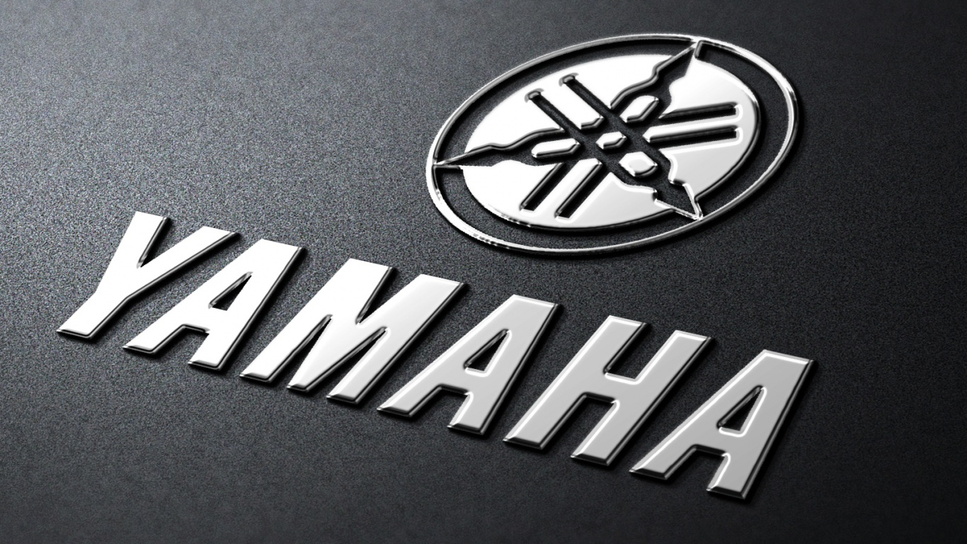 1366x768 yamaha metal logo desktop pc and mac wallpaper