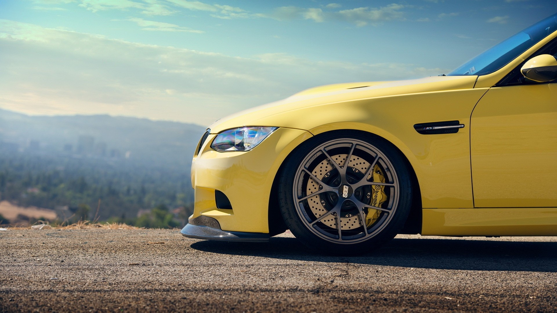 1920x1080 Yellow Bmw M3 Bonnet Desktop Pc And Mac Wallpaper