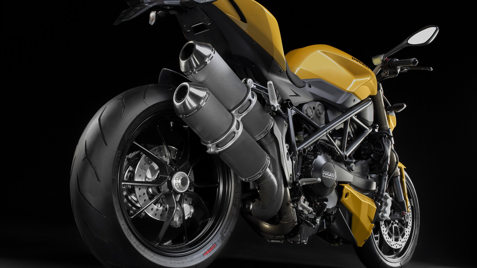 Exceptionnel 1920x1080 Yellow Ducati Streetfighter 848 Rear Angle Desktop PC And Mac  Wallpaper