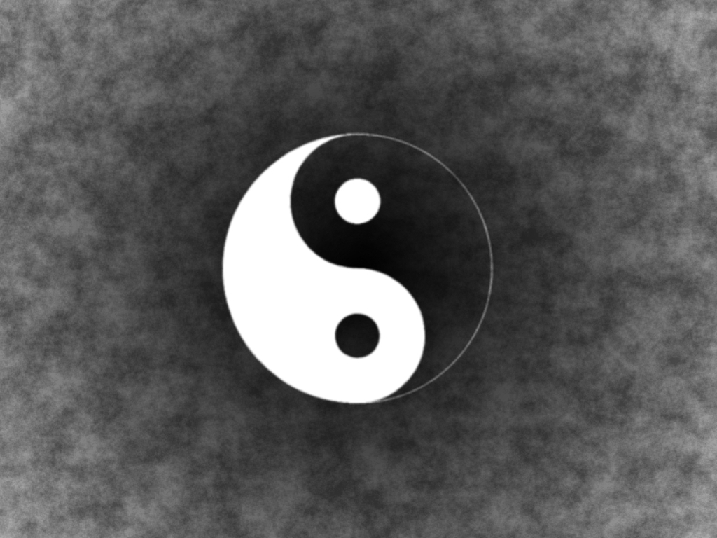 1024x768 yin yang desktop pc and mac wallpaper