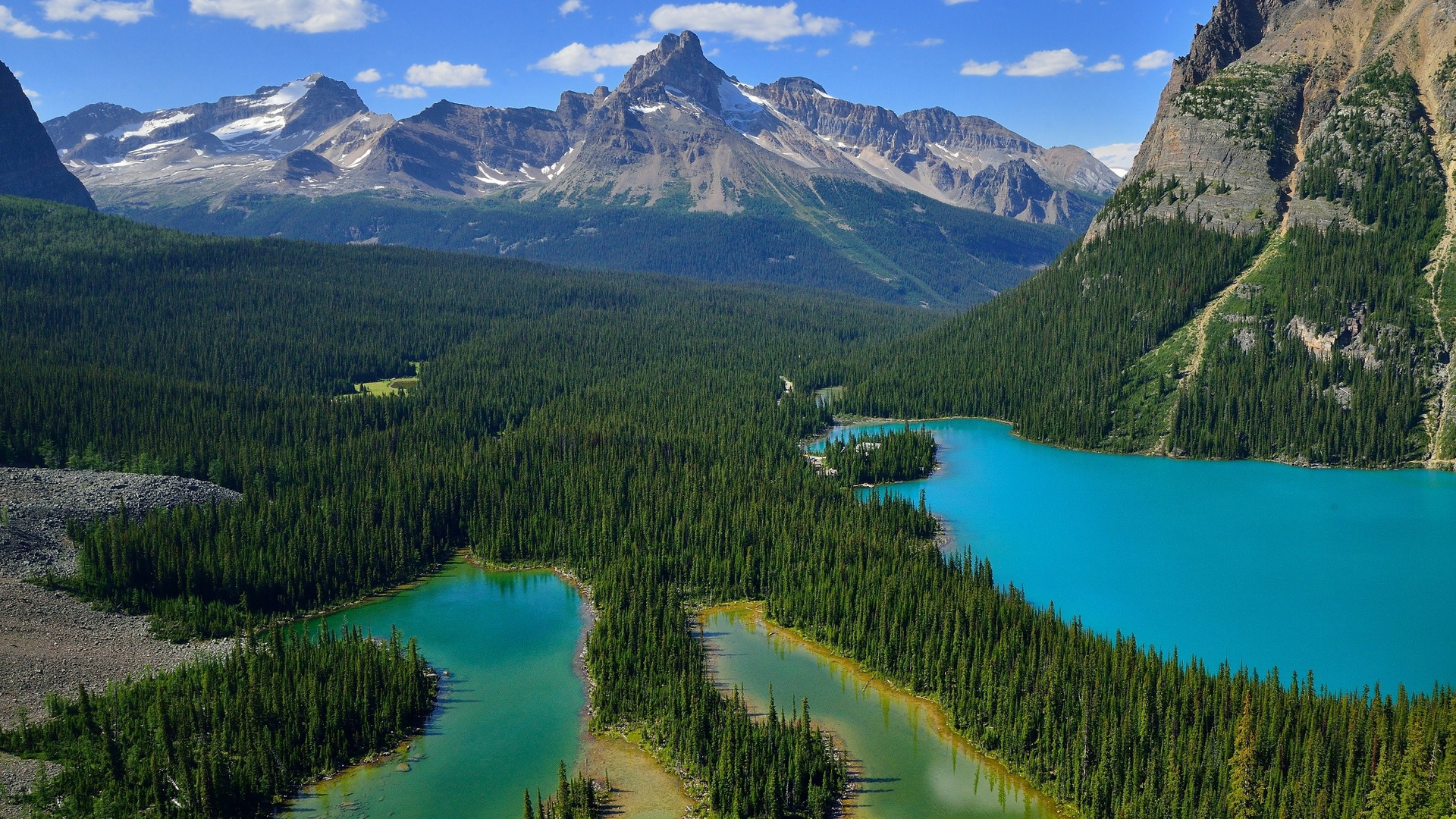 1920x1080 yoho national park canada lake desktop pc and for Home wallpaper canada