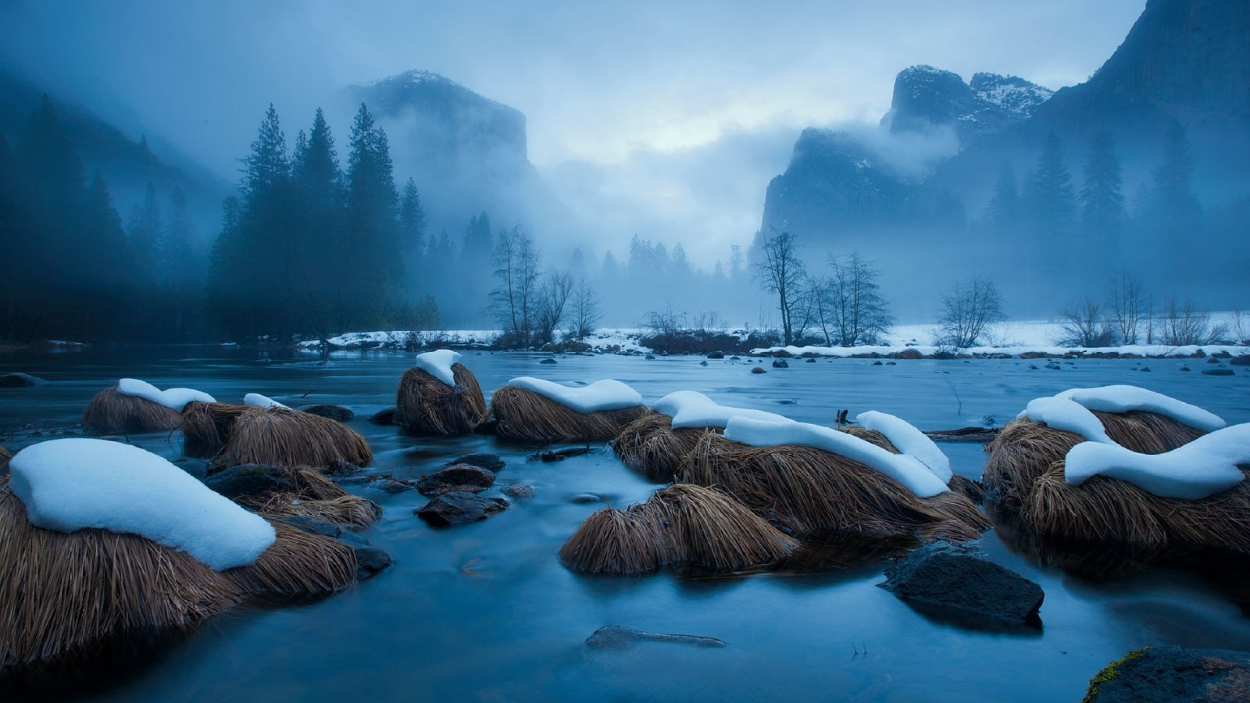 2560x1440 yosemite national park winter how to set wallpaper on your desktop