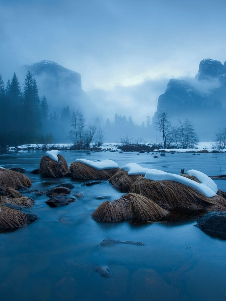 768x1024 yosemite national park winter ipad mini wallpaper